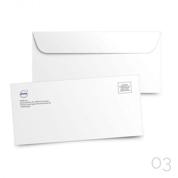 03 kuverta american bez prozora BP, tisak kolor 4/0