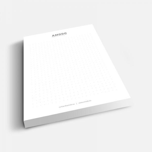 Amodo, A5, 100 lista, tisak listova 1/0, ljepljeno u zaglavlju