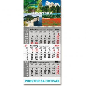 Trodjelni tromjesečni kalendari