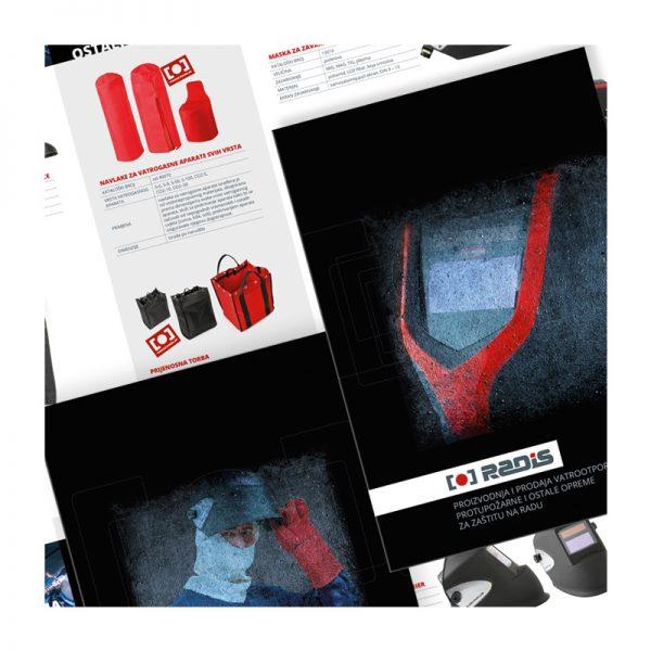 Dizajn brošure/kataloga tvrtke Radis