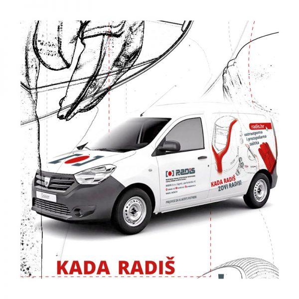 Grafičko rješenje za oslikavanje vozila tvrtke Radis