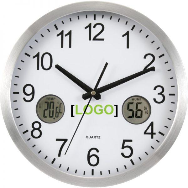 Zidni sat s digitalnim funkcijama