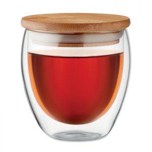 Čaša s duplom stijenkom i poklopcem Tirana SMALL