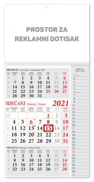 Veliki note crveni kalendar