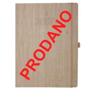 A4 rokovnik šamoa papir 2020 Woody